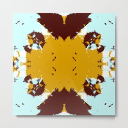 Takashi - Abstract Multicolor Rorschach Butterfly Metal Print