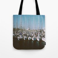 boats Tote Bags featuring Boats by usfromars