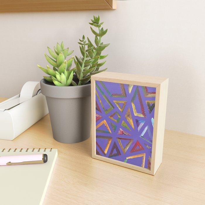 Purple Frames Framed Mini Art Print