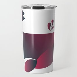 Whale - Watermelon Travel Mug