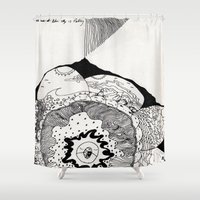 skyfall Shower Curtains featuring skyfall by Kyle Ellsworth