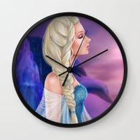 elsa Wall Clocks featuring Elsa by Jolenebydesign