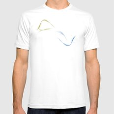 Land to Sea - Interconnection White Mens Fitted Tee MEDIUM