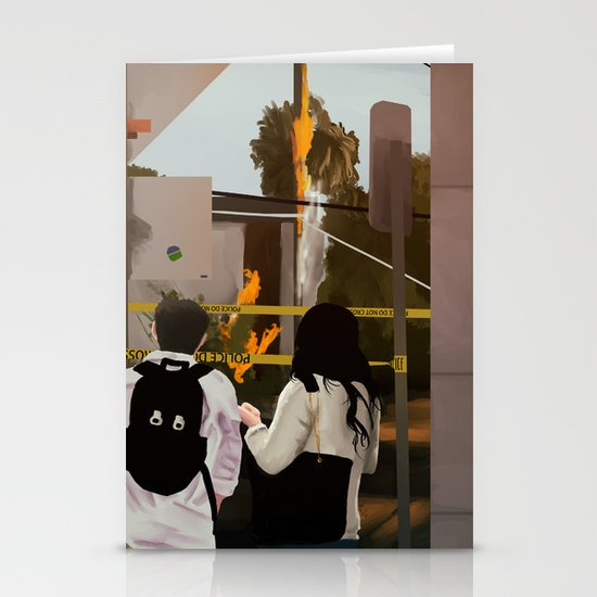 Watching Together Stationery Cards