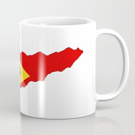 east timor flag map Coffee Mug