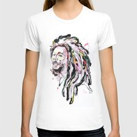 marley T-shirts featuring B Marley Portrait  by Alina N