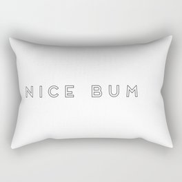 Nice Bum (Outlined Font) Rectangular Pillow