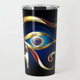 Gold Eye of Horus Travel Mug