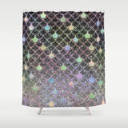 Mermaid scales ombre glitter #2 Shower Curtain
