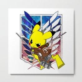 Shingeki No Pika Metal Print