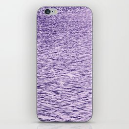 Ultra Violet Glittering Wavy Pattern | Trendy Color of year 2018 iPhone Skin