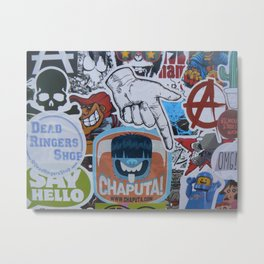 Sticker Collage Number Two Metal Print