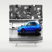subaru Shower Curtains featuring Subaru Racer by VHS Photography