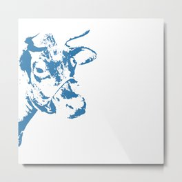 Follow the Herd - Blue #154 Metal Print