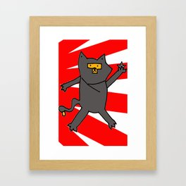 Ninja Kitty Framed Art Print