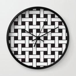 Plane Weave Seamless Pattern. Wall Clock