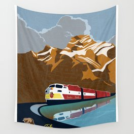 vintage CP rail poster Wall Tapestry