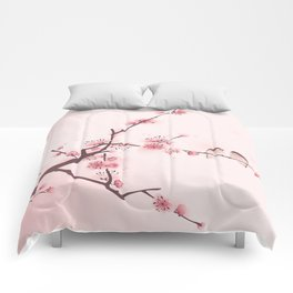 Oriental cherry blossom in spring 005 Comforters