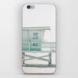 lifeguard stand iPhone Skin