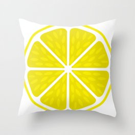 Fresh juicy lime- Lemon cut sliced section Throw Pillow