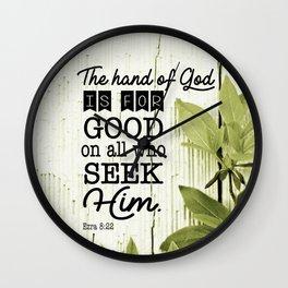 Ezra 8:22 Scripture Wall Clock
