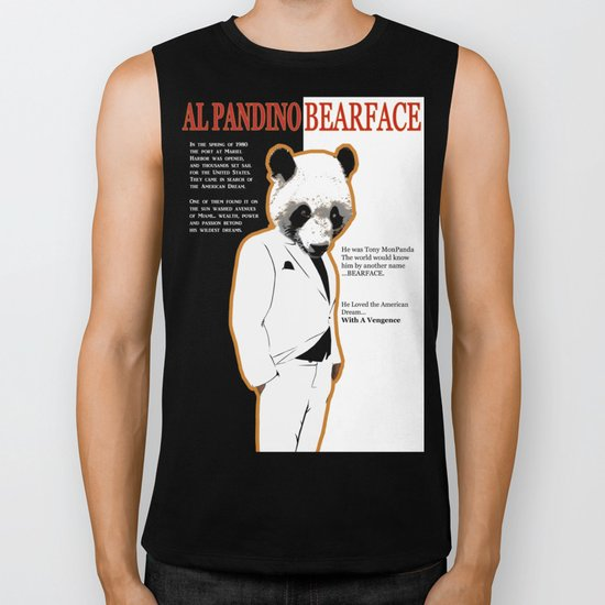 Tony MonPanda - Bearface Biker Tank
