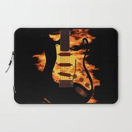 Burning Guitar Laptop Sleeve