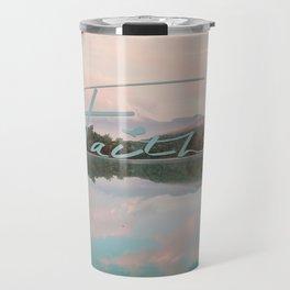 Faith - Smoky Mountains Lake at Dawn Nature Photography Quote Travel Mug