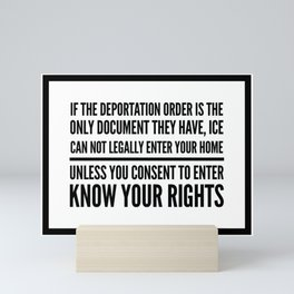 Know Your Rights: Consent to Enter (English) Mini Art Print