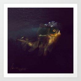 Undine fish Art Print