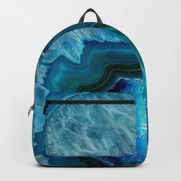 Teal Blue Agate Backpack