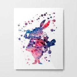 White Rabbit Alice in Wonderland Disneys Metal Print