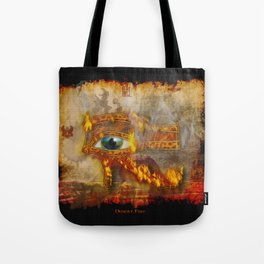 Desert Fire - Eye of Horus Tote Bag