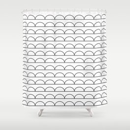 pomak (white) Shower Curtain