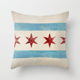 Chicago Flag Throw Pillow