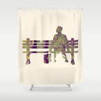 forrest Shower Curtains featuring Forrest by Ivan Guerrero