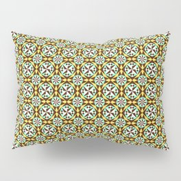 Barcelona cement tile in yellow, brown and blue Pillow Sham