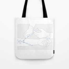 Infusion Therapy Diagram Mono Line Tote Bag
