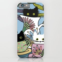 Tea Party of the Cats iPhone Case