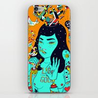 trip iPhone & iPod Skins featuring Trip by Jefowley