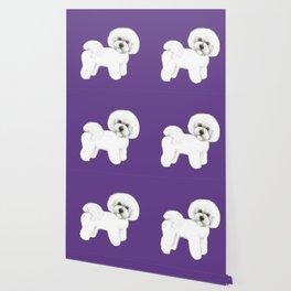 Bichon Frise dog on Ultraviolet, 2018 Bichon , Year of the dog, Pantone Ultraviolet Wallpaper