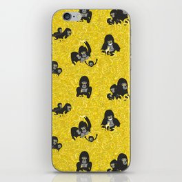 Gorillas and bananas by unPATO iPhone Skin