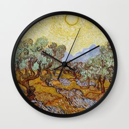 Vincent Van Gogh Olive Trees Wall Clock