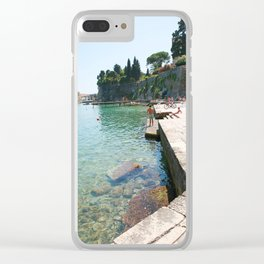 Greece Paradise Clear iPhone Case