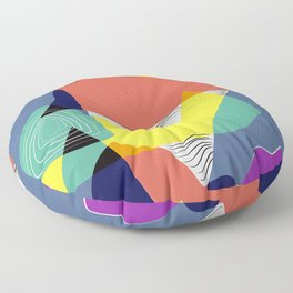 Color of the mountain range Floor Pillow