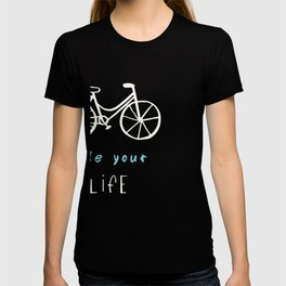 Bikes in a blue background T-shirt