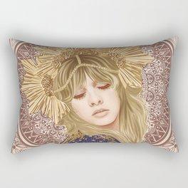 Stevie Nicks Poster, Fleet-wood Mac Poster, Wall Decor, Home Decor, Custom Poster, Custom Art, Living Room Decor, Hand Rock, Work Art Rectangular Pillow