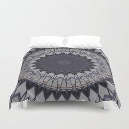 Decorative Purple White Mandala Duvet Cover