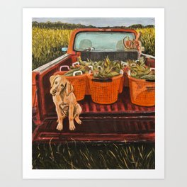 Farm Dog Art Print