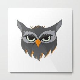 Be Wise like an Owl Metal Print